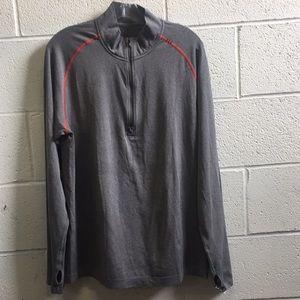 Lululemon men's gray LS top, sz L, 57683